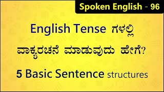 FIVE Basic sentence structures in Tenses | Spoken English 2020 (ಕನ್ನಡ) - 96