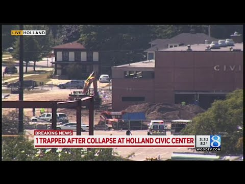 1 trapped after collapse at Holland Civic Center