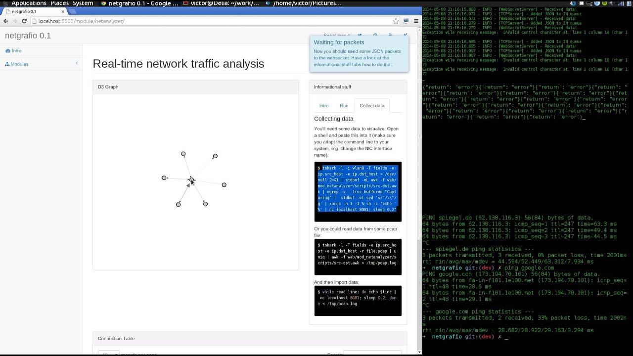 netgrafio - live traffic analysis module