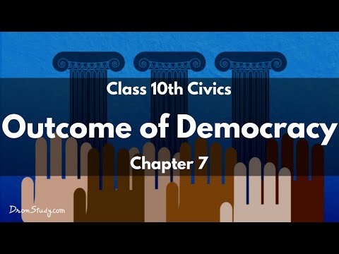 Outcome of Democracy: CBSE Class 10 X | Social Studies | Video Lecture