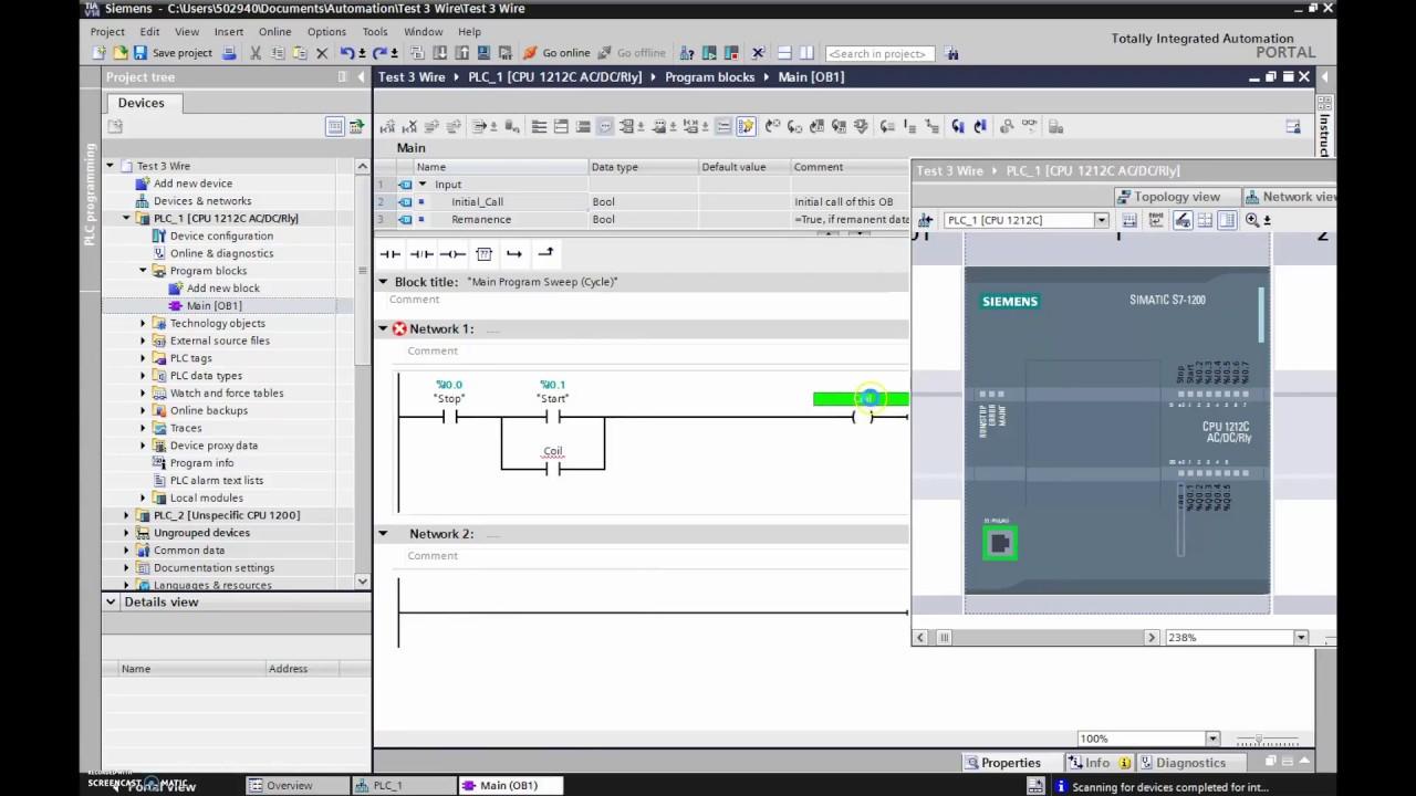 Siemens TIA Portal Tutorial (Configuring your S71200 PLC