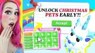 Can We Use TIKTOK Hacks To Unlock NEW CHRISTMAS PETS IN ADOPT ME? Adopt Me Update Christmas