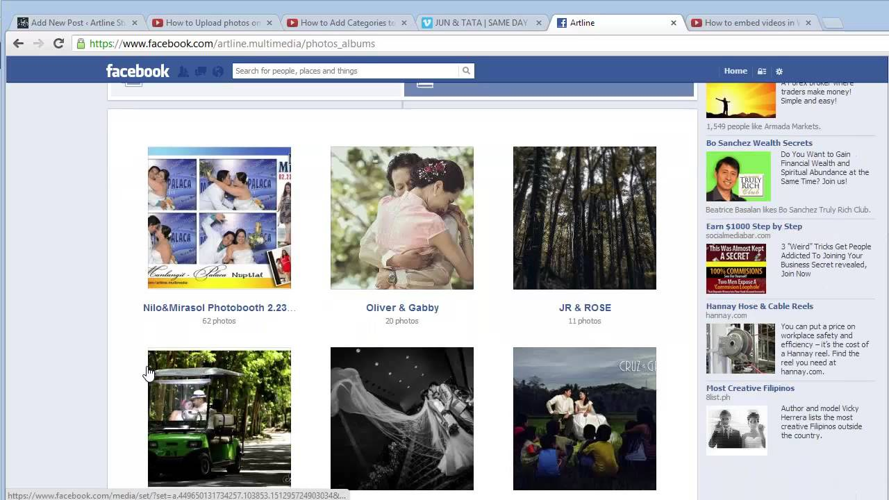 How to get facebook album photos place it on your An website