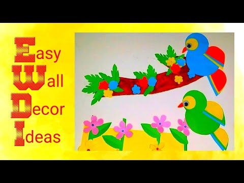 Diy Paper Parrot / How to make parrot from color papers/ Cardboard or Paper Crafts