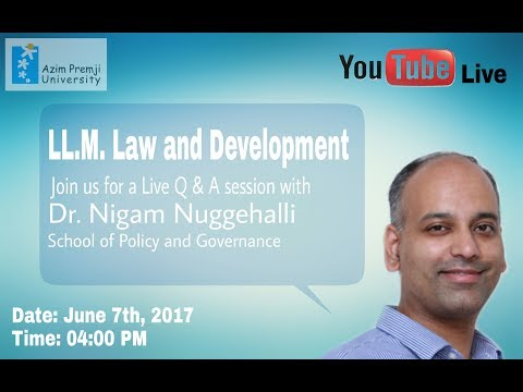 LL.M. in Law and Development - Interact with Faculty