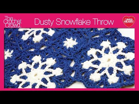 Crochet Dusty Snowflake Afghan Youtube