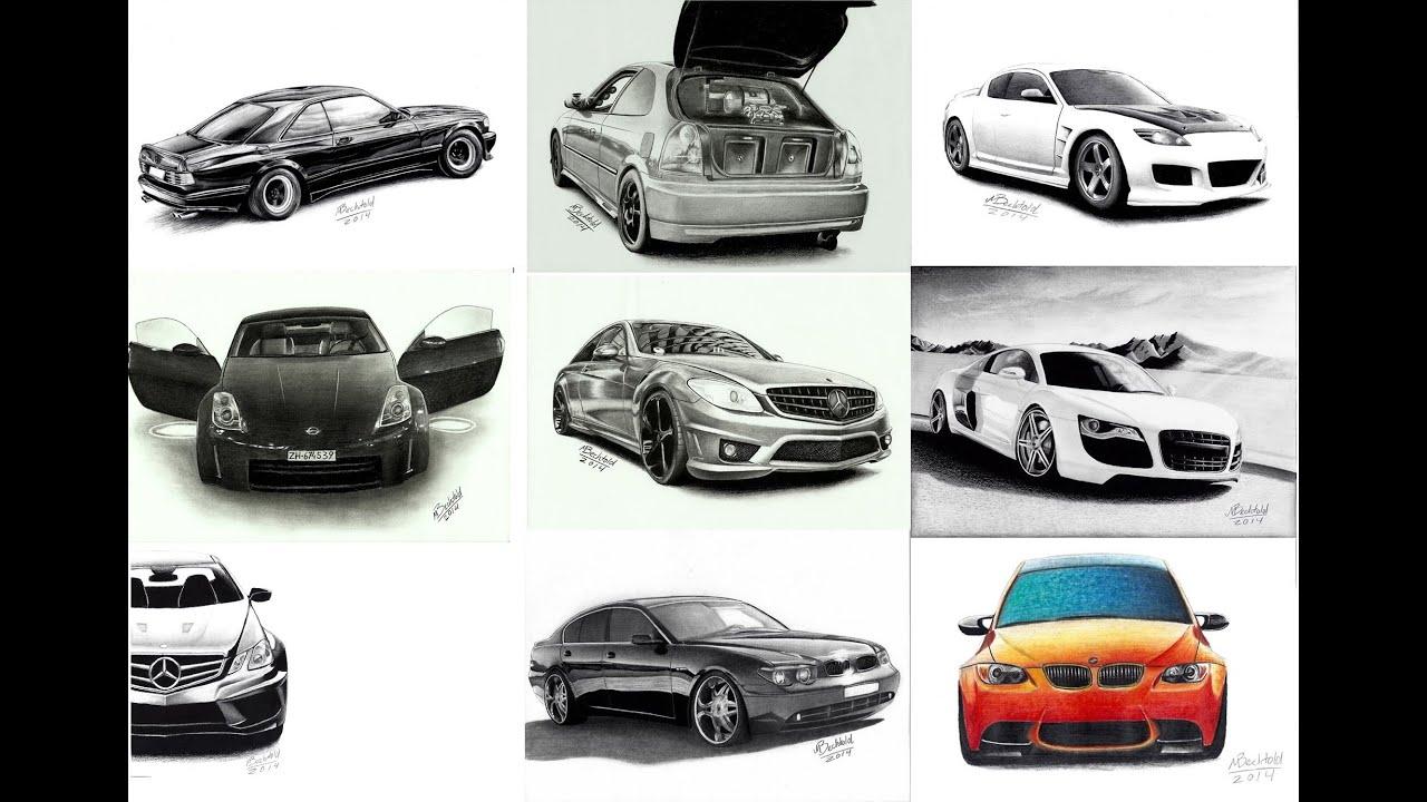 My Car Drawings of 2014! Meine Zeichnungen 2014! photo realistic ...