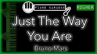 Just The Way You Are (HIGHER +3) - Bruno Mars - Piano Karaoke Instrumental