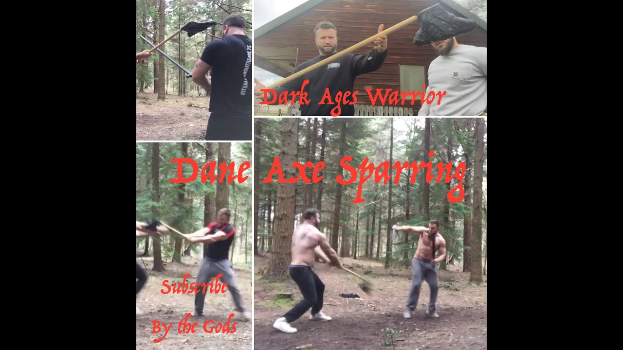 Sparring with a 2 Handed Dane Axe