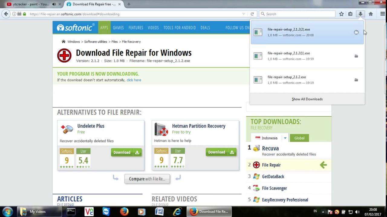Cara memperbaiki file yang error/rusak ( How to repair error file )