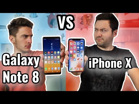 iPhone X VS Galaxy Note 8 : LE BIG FIGHT !