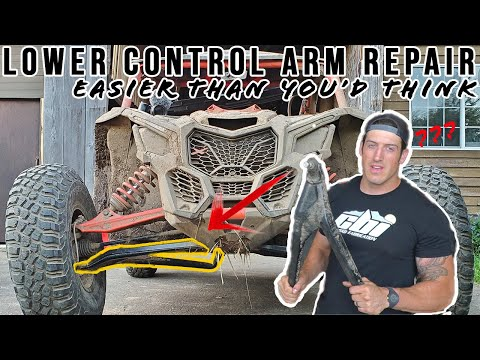 Easy Fix And Cheap Insurance | Can Am X3 Lower Control Arm Replacement