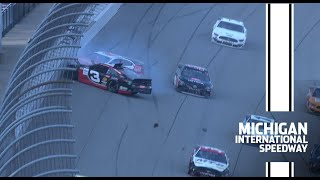 Restart to caution at Michigan pushes race to NASCAR Overtime | NASCAR