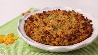 Corn Bread Stuffing Recipe - Laura Vitale - Laura In The Kitchen Episode 483