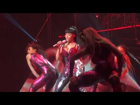 Nicki Minaj  Trini Dem Girls Brussels, Belgium  The Pink Print Tour, Palais 12  HD