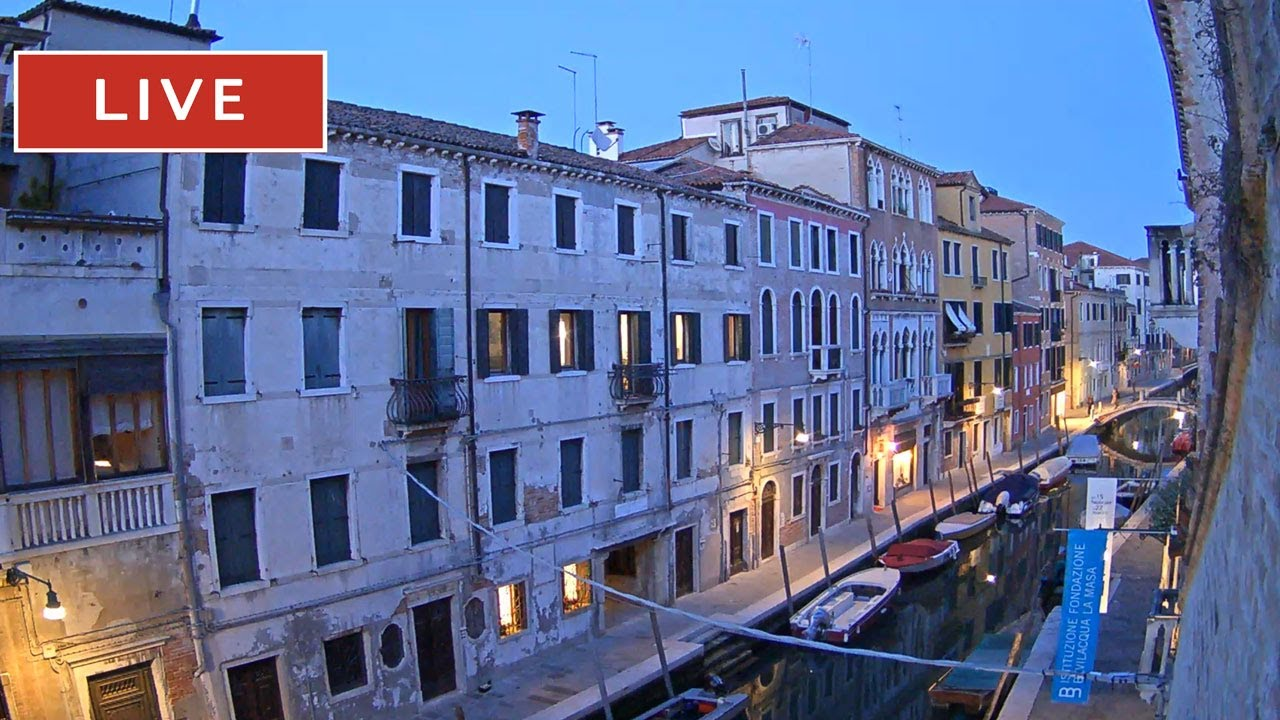 Venice Italy Live Webcam The View On Canal From Hotel Pausania
