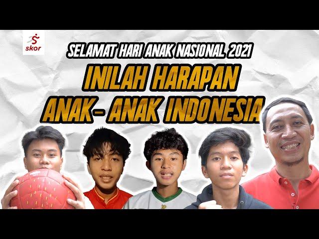 Harapan Pesepak Bola Muda Indonesia di Hari Anak Nasional