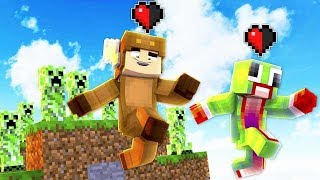 UNSPEAKABLEGAMING VS MOOSECRAFT! - MINECRAFT HALF A HEART RACE!