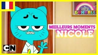 Le Monde Incroyable de Gumball 🇫🇷   Les meilleurs moments de Nicole #1