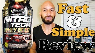Muscletech: Nitrotech 100% Whey Gold Protein Review