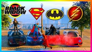 GTA ONLINE SUPERHEROS VS SUPERVILLIANS SPECIAL - BATMAN VS SUPERMAN, SPIDERMAN, THE FLASH & MORE!