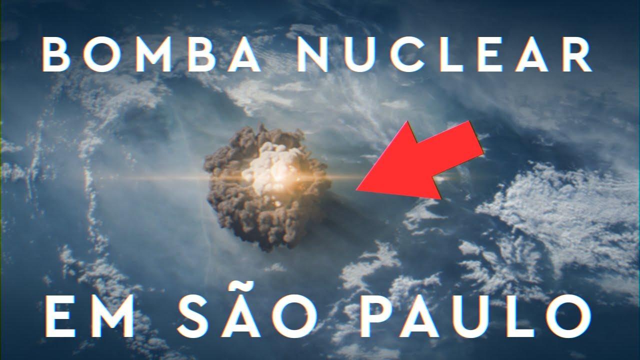 E se uma Bomba Nuclear EXPLODISSE em São Paulo?