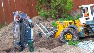 RC ADVENTURES - How to Recover a buried Drift Car
