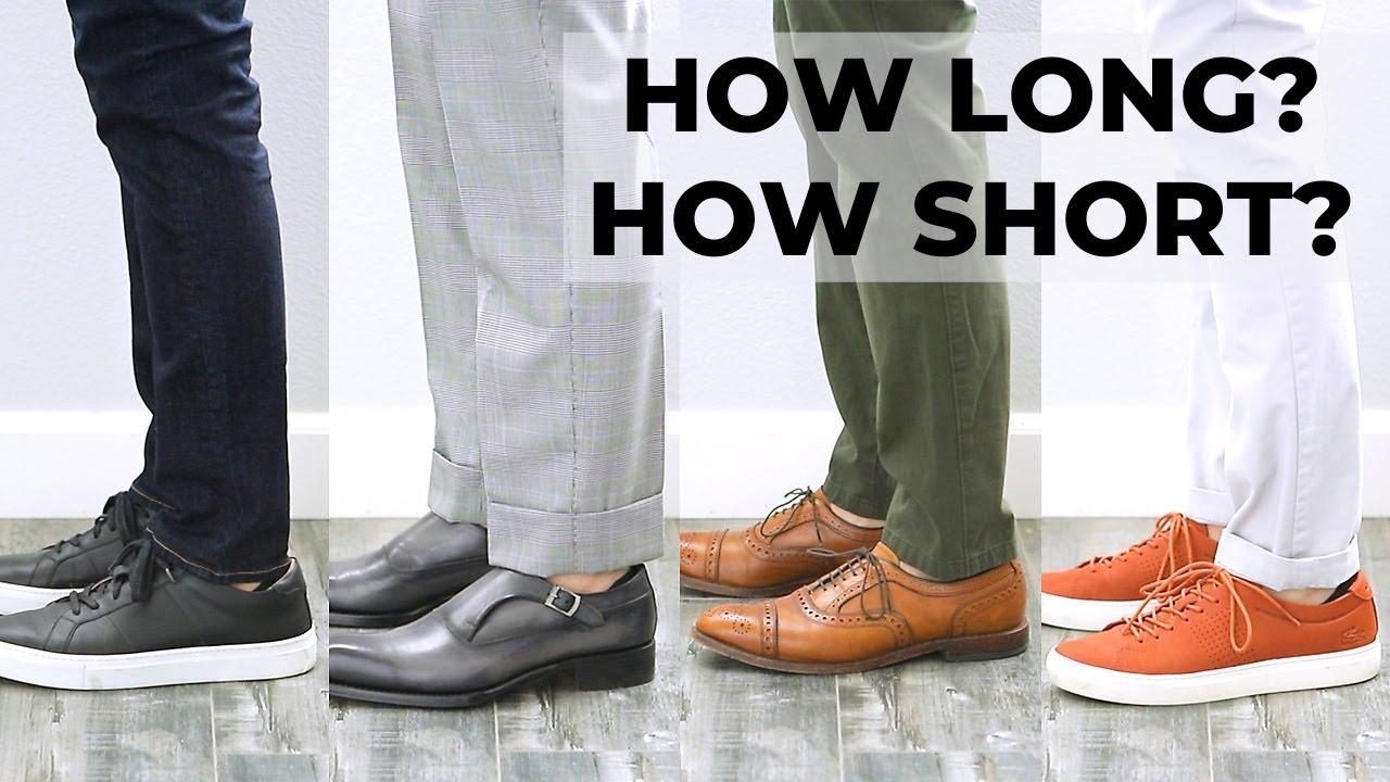 Proper Length of Men's Pants | Trouser Length