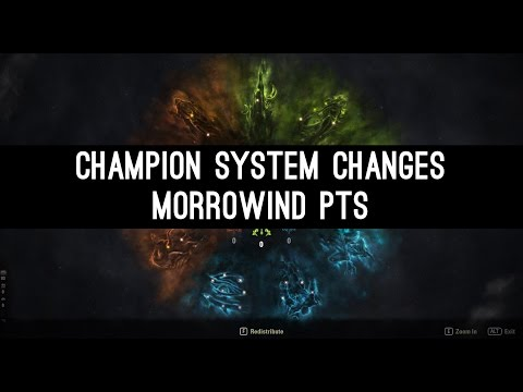 Champion System Changes - Morrowind PTS