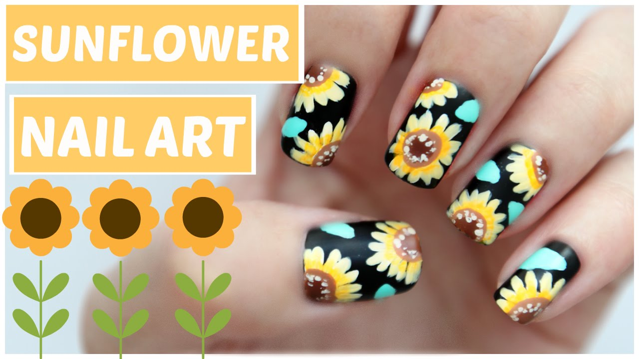 - Easy Sunflower Nail Art!!! JennyClaireFox - YouTube