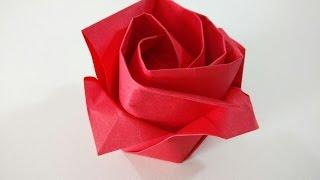 Como hacer una rosa de papel - Flor de origami