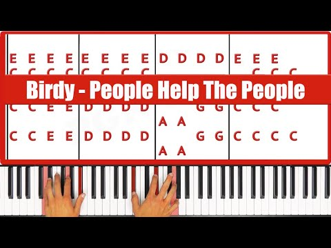 How To Play People Help The People Birdy Piano Tutorial - ♫ ORIGINAL