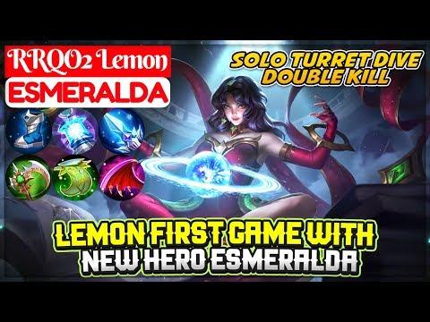 Lemon First Game With New Hero Esmeralda [ RRQO2 Lemon Esmeralda ] Mobile Legends thumbnail