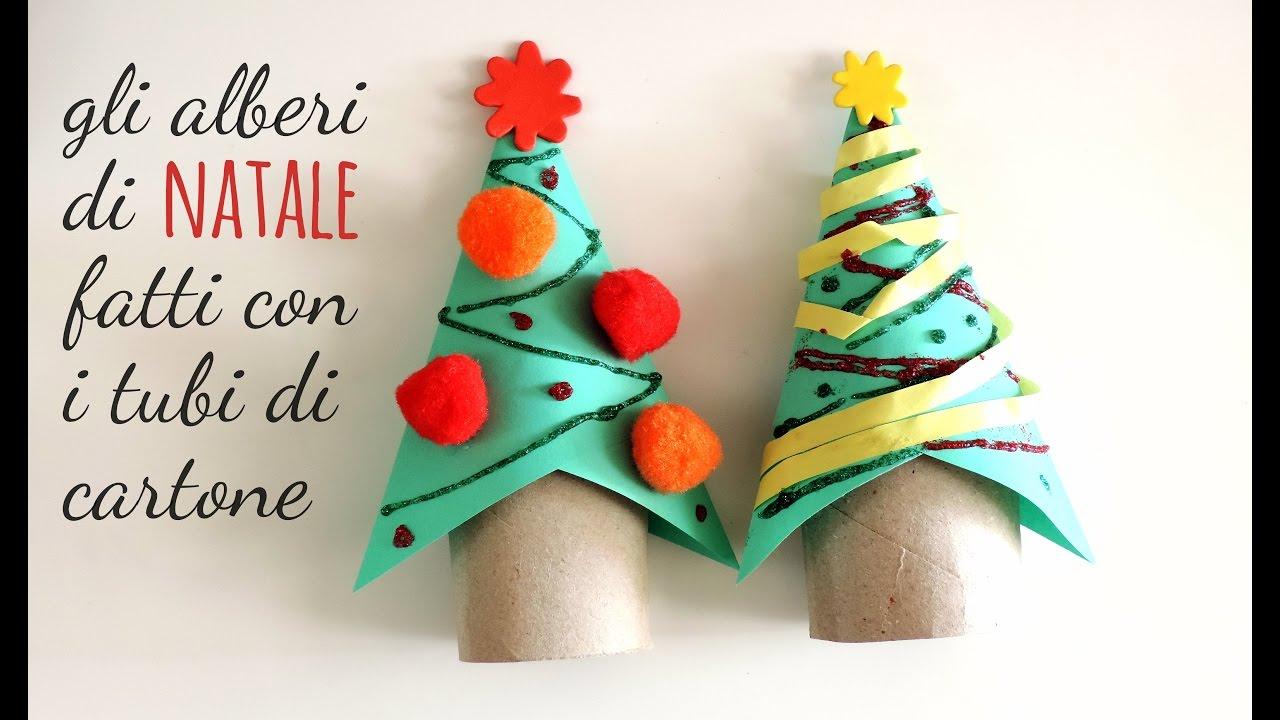 Lavoretti Di Natale Per La Scuola.Lavoretti Come Fare L Albero Di Natale Con Un Tubo Di Cartone