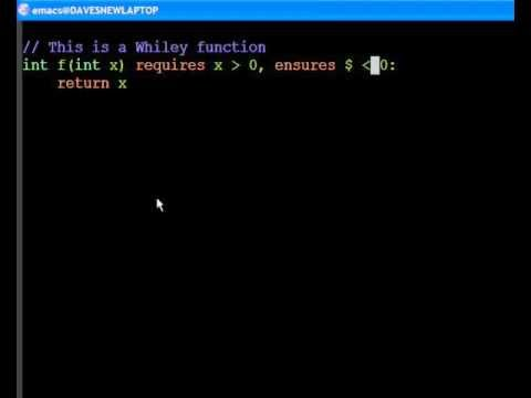 Short Demonstration of the Whiley Programming Language
