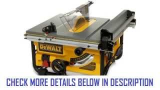 Dewalt Dw745 Table Saw Stand 10 Inch Compact Job Site Table Saw With 20 Inch