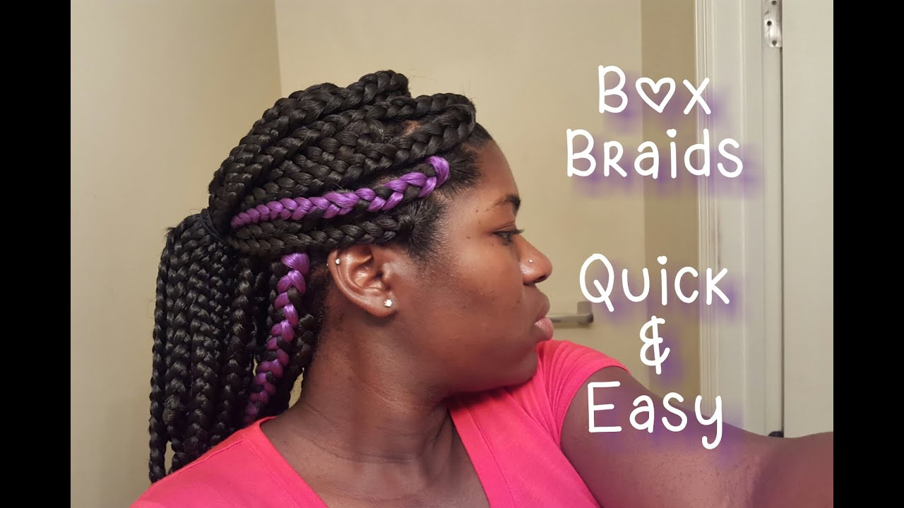 30 Box Braids In 2 5 Hours Quick And Easy Youtube