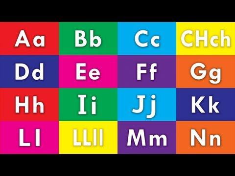 Learn Spanish / Español Alphabet - ABC Flash Cards (HD)