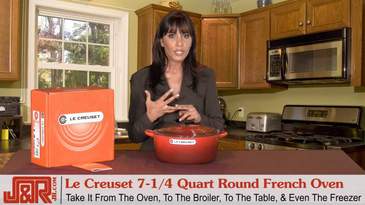 Le Creuset 714 Quart Round French Oven Covered Red YouTube