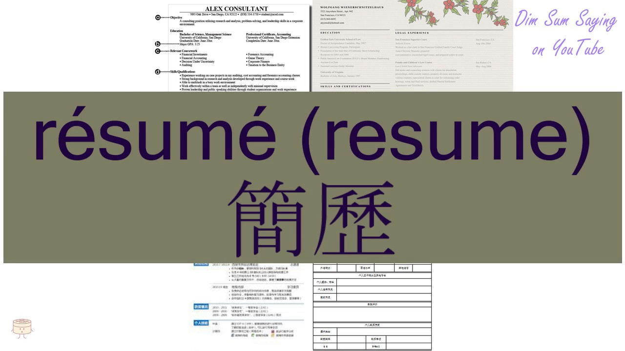 Resume Professional Writers Review Pdf Rsum Resume In Cantonese   Flashcard  Youtube Clinical Pharmacist Resume Word with Send Resume To Jobs Word Rsum Resume In Cantonese   Flashcard How To Write A Resume For College