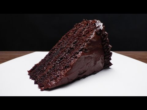 How to baking a simple chocolate cake from scratch recipe
