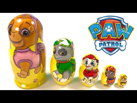 Thumbnail: Best Learning Colors Video for Children - Paw Patrol Toy Nesting Dolls Stacking Cups
