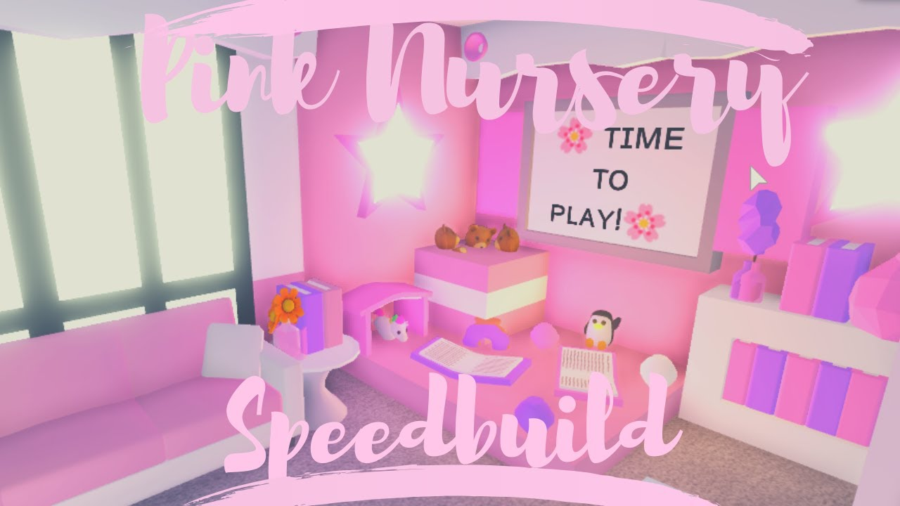 Pink Nursery Speedbuild | Roblox Adopt Me - YouTube