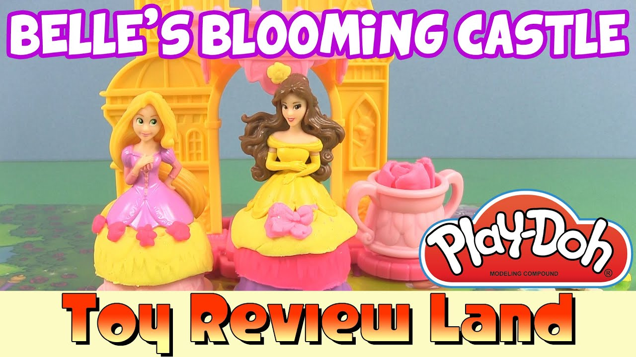 Play Doh Princess Belles Blooming Castle With Disney Princess