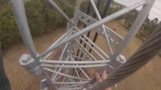 communication tower antenna climb 45 metres 148 feet