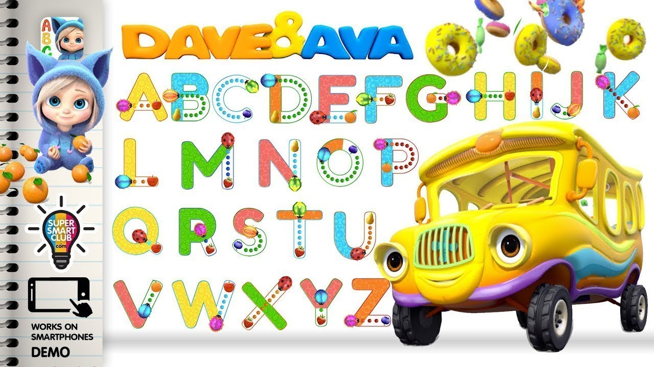 writing alphabets with dave and ava tracing app