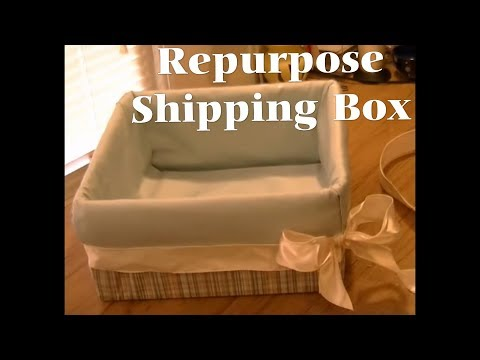 Repurpose Shipping Box Into Gift Box  - Freestyle Friday #39