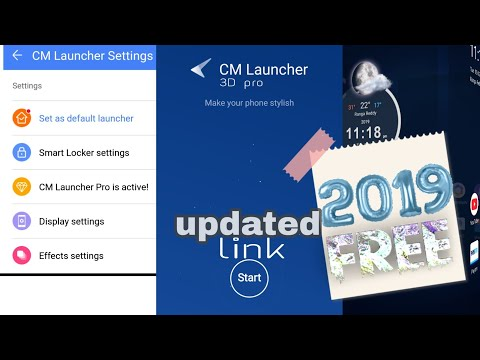 How To Download CM Launcher 3D Pro 2019 Q3 For Free On Any Android Device 1000% Working