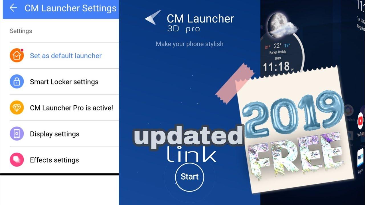 cm launcher 3d pro latest apk download