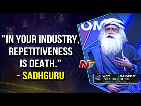 Jaggi Vasudev Speech at Global IT Congress In Hyderabad || NASSCOM 2018 || NTV